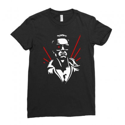 1980's The Terminator Ladies Fitted T-shirt Designed By G3ry