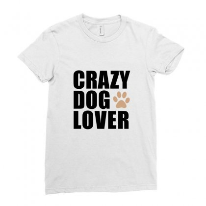 Crazy Dog Lover Ladies Fitted T-shirt Designed By Prince Ali