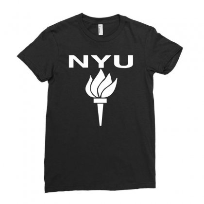 New York University Ladies Fitted T-shirt Designed By G3ry