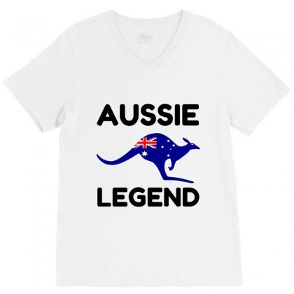 Aussie Legend V-neck Tee Designed By Perfect Designers