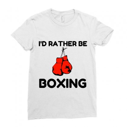 Rather Be Boxing Ladies Fitted T-shirt Designed By Perfect Designers
