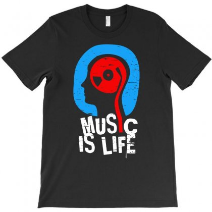 Music Is Life T-shirt Designed By Aheupote