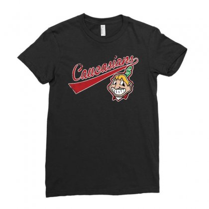 Cleveland Caucasians Ladies Fitted T-shirt Designed By Meganphoebe