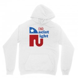 End the racist right Unisex Hoodie | Artistshot