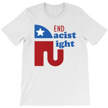 End The Racist Right T-shirt Designed By Cogentprint