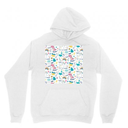 Colorful Doodle Animals Words Pattern Unisex Hoodie Designed By Salmanaz