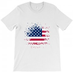 Grunge Style American Flag T-shirt Designed By Black Box