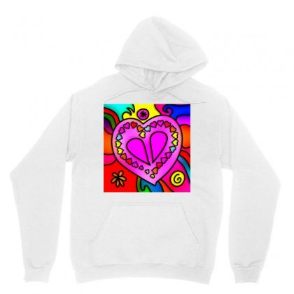 Stained Glass Love Heart Unisex Hoodie Designed By Salmanaz