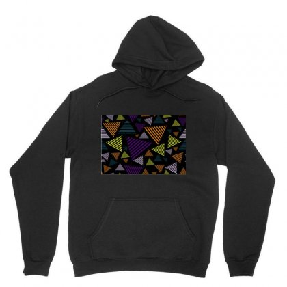 Abstract Pattern Design Various Striped Triangles Decoration Unisex Hoodie Designed By Salmanaz