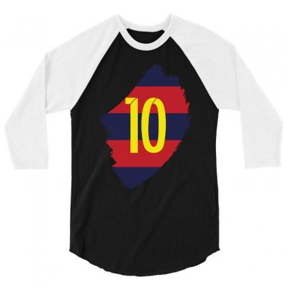 Barcelona Messi Lionel Inside 3/4 Sleeve Shirt Designed By Citron