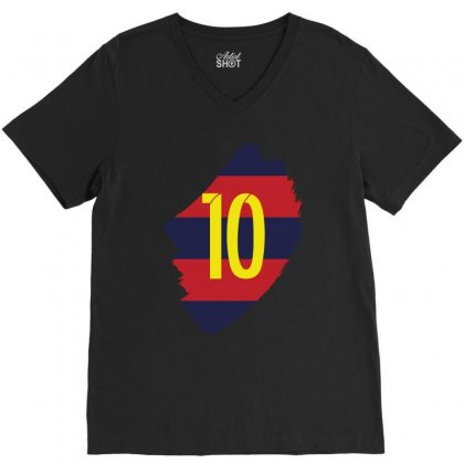 Barcelona Messi Lionel Inside V-neck Tee Designed By Citron