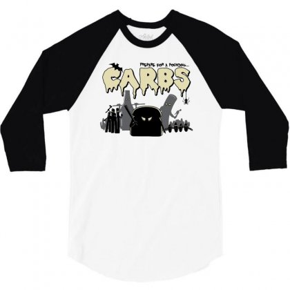 Carbs Are Evil 3/4 Sleeve Shirt Designed By Ronart