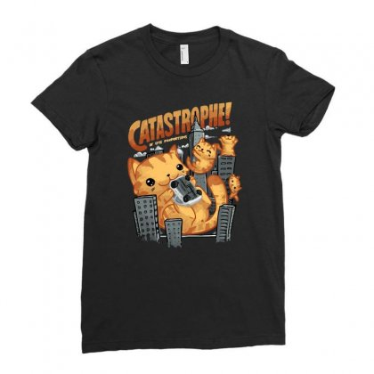 Catastrophe Ladies Fitted T-shirt Designed By Ronart