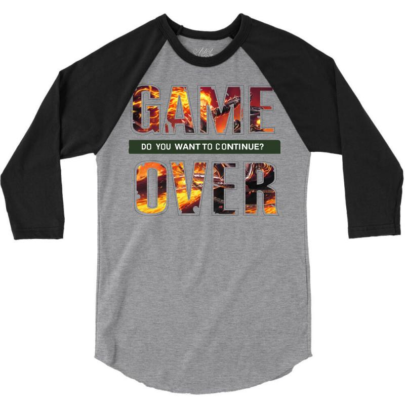 Game Over 3/4 Sleeve Shirt | Artistshot