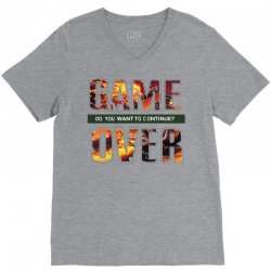 GAME OVER V-Neck Tee | Artistshot