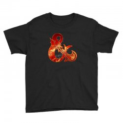 Dungeon and Dragons Fire Youth Tee | Artistshot