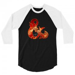 Dungeon and Dragons Fire 3/4 Sleeve Shirt | Artistshot