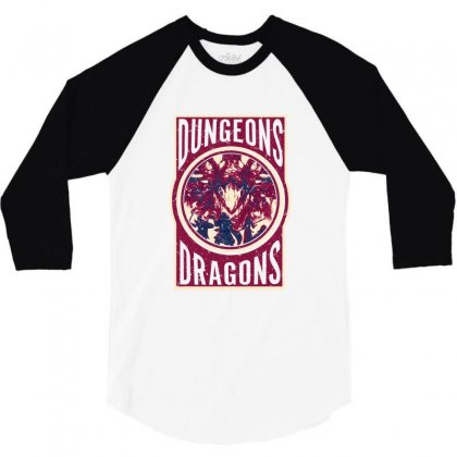 Dungeons And Dragons 3/4 Sleeve Shirt Designed By Ofutlu