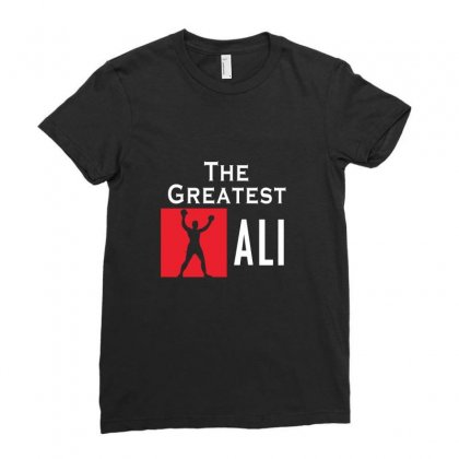 The Greatest Ali Ladies Fitted T-shirt Designed By Designby21