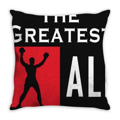 The Greatest Ali Throw Pillow Designed By Designby21