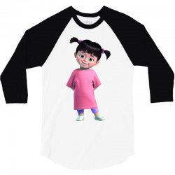 Monsters Inc Boo Cute Little Monster Girl's 3/4 Sleeve Shirt | Artistshot