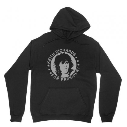 Keith Richards For President Unisex Hoodie Designed By Meganphoebe