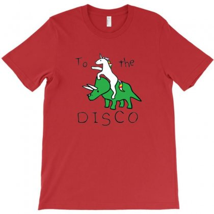 Unicorn Riding Dinosaur T-shirt Designed By Devanojohnsantos