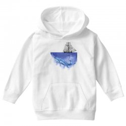 ship over blue whale Youth Hoodie | Artistshot