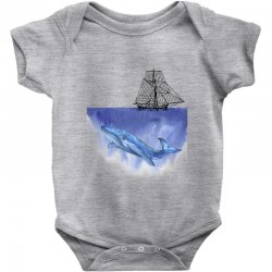 ship over blue whale Baby Bodysuit | Artistshot