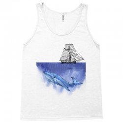 ship over blue whale Tank Top | Artistshot