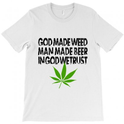 God Made Weed (black) T-shirt Designed By Akhtar21