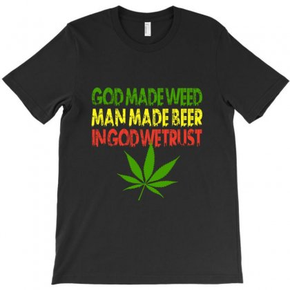 God Made Weed T-shirt Designed By Akhtar21