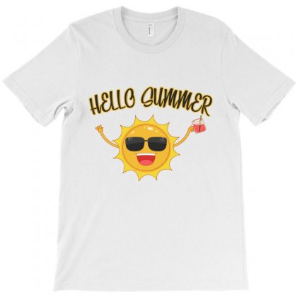 Hello Summer T-shirt Designed By Akhtar21