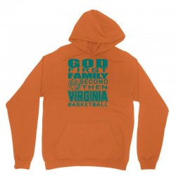 god first family second then virginia cavaliers basketball 1 Unisex Hoodie | Artistshot