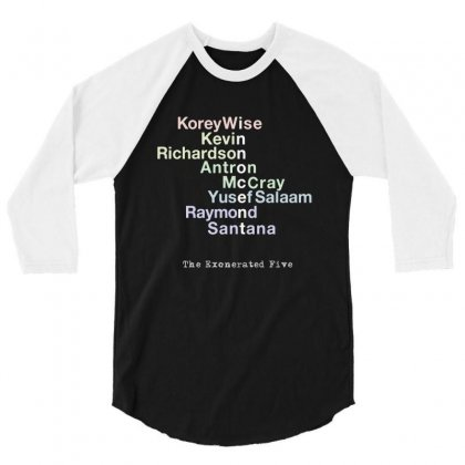 Tribute To The Exonerated Five 3/4 Sleeve Shirt Designed By Meganphoebe