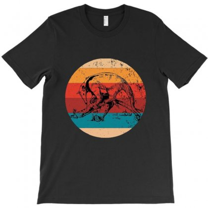 Vintage Anteater Lover Retro Style Silhouette T-shirt Designed By Meganphoebe