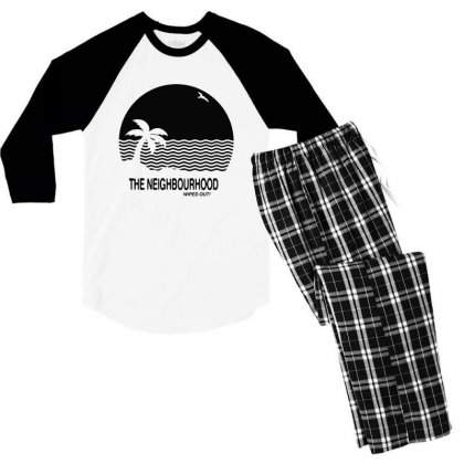 The Neighbourhood Wiped Out Men's 3/4 Sleeve Pajama Set Designed By Meganphoebe