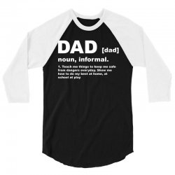 funny t shirt dad 3/4 Sleeve Shirt | Artistshot