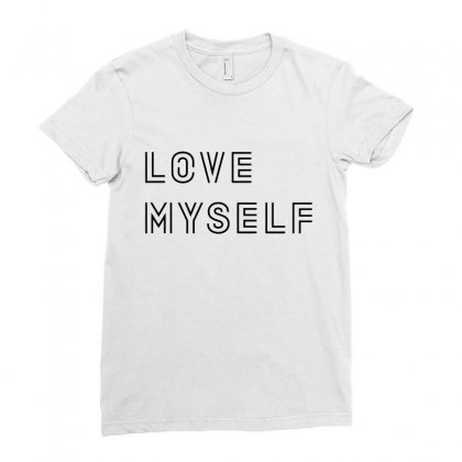 Love My Self Ladies Fitted T-shirt Designed By Citron