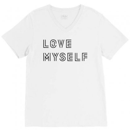 Love My Self V-neck Tee Designed By Citron