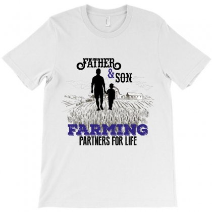 Father And Son Farming Partners For Life T-shirt Designed By Wizarts