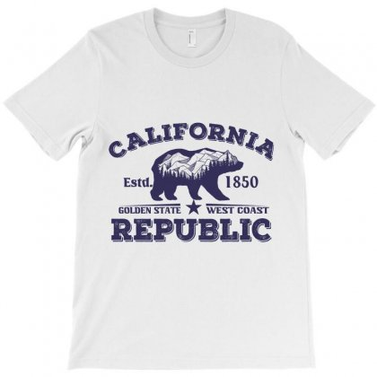 California Estd. 1850 Golden State West Coast Republic T-shirt Designed By Wizarts
