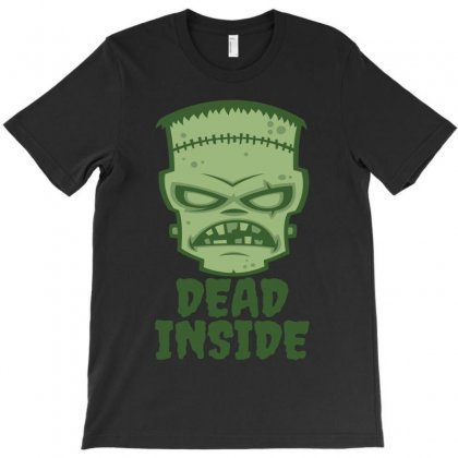 Dead Inside Frankenstein Monster T-shirt Designed By Fizzgig