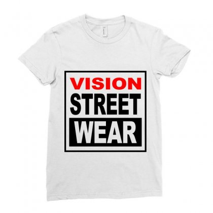 Vision Skateboards Ladies Fitted T-shirt Designed By Citron