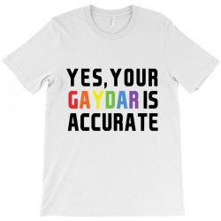 yes your gaydar is accurate funny lgbt pride parade   black T-Shirt | Artistshot