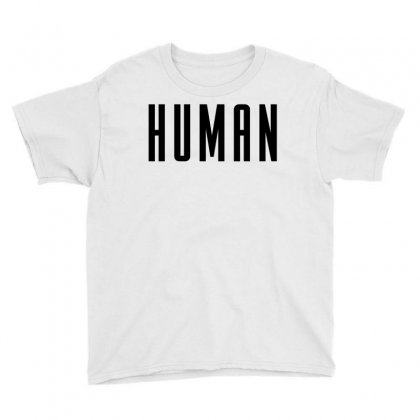Human (black) Youth Tee Designed By New Spirit