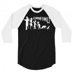 zombie family (white) 3/4 Sleeve Shirt | Artistshot