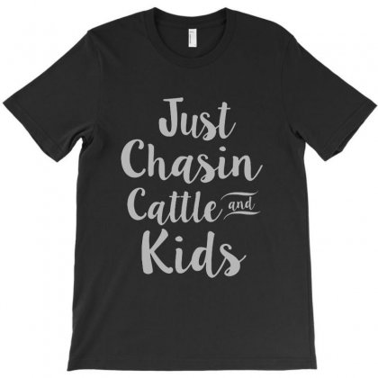 Just Chansin Cattle And Kids T-shirt Designed By Meganphoebe