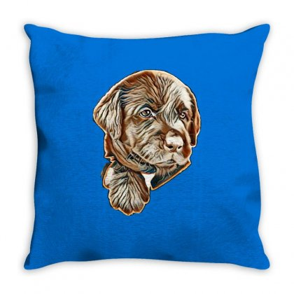 I Love My Dog Throw Pillow Designed By Kemnabi