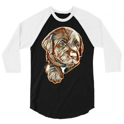 I Love My Dog 3/4 Sleeve Shirt Designed By Kemnabi